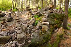 Stone cairn Stock Image