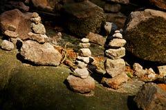 Stone cairn Stock Photos