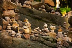 Stone cairn Royalty Free Stock Photos