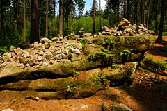 Stone cairn Royalty Free Stock Image