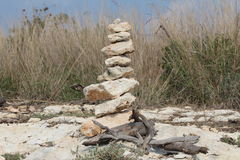 Stone cairn Royalty Free Stock Photography