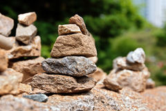 Stone cairns Stock Photo