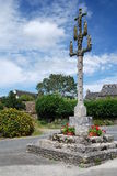 Stone calvary in Brittany Stock Images