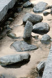 Stone in canal. Stock Image