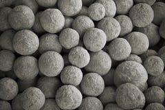 Stone cannon balls royalty free stock photos