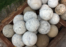 Stone  cannonball Royalty Free Stock Image