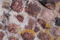 Stone canvas many brown red canvas in cement mortar old fort wall rigid canvas design base stock images