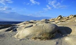 Stone cape Vourvourou Beach. Royalty Free Stock Photo