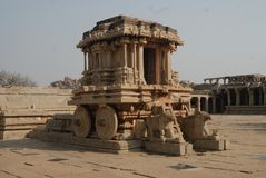 Stone Car of Hampi, Karnatak, India. royalty free stock photography