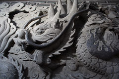 Stone carve dragon Stock Photo