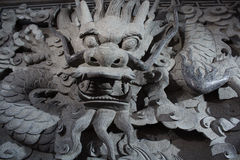 Stone carve dragon Royalty Free Stock Images