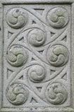 stone carved Celtic design Stock Images
