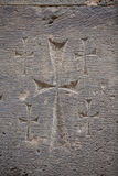 Stone carved cross Stock Photography