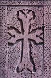 Stone carved cross Stock Photos