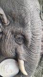 Stone carved elephant Stock Photos