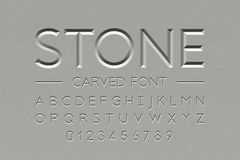 Free Stone Carved Font Stock Photo - 126763460