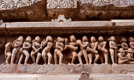 Stone carved in Khajuraho Stock Photos