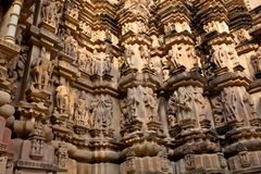 Stone carved in Khajuraho, India Stock Photo