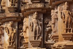 Stone carved in Khajuraho, India Royalty Free Stock Photos