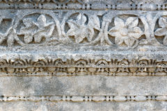 Stone with carved on Main street in ancient Lycian city Patara. Turkey Stock Photo