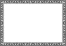 Stone Carved Ornate Frame. White frame background with decorated stone carved ornate design borders Stock Image