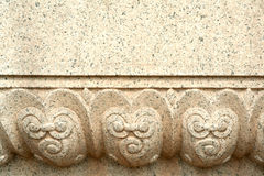 Stone carved pattern Royalty Free Stock Images