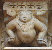 Stone carved  relief in Hindu temple in Khajuraho, India. Unesco Stock Photography