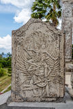 Stone carved tablet in Ujung Water Palace, Bali Island, Indonesia Royalty Free Stock Images