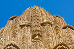 Stone carved temple in Khajuraho, India Stock Photos