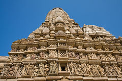 Stone carved temple in Khajuraho, Madhya Pradesh, India Stock Image