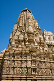 Stone carved temple in Khajuraho, Madhya Pradesh, India Stock Photo