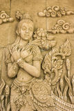 Stone carved thai style Stock Photo