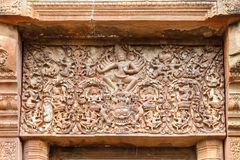 Stone Carved in Thailand. Relief carved stone of ancient Buddhist cosmology, Thailand Stock Photography