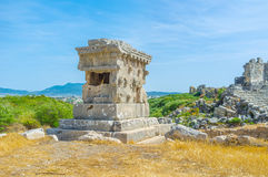 The stone carved tomb Royalty Free Stock Image