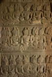 Stone Carved at the wall of Angkor Wat Stock Photo