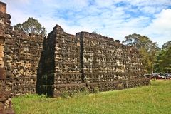 Stone Carved wall at Angkor wat Stock Photos