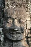 Stone carving. Stone face carving at the Bayon temple, Cambodia Stock Photography
