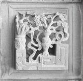 Stone carving. Dragon-headed unicorn Stock Image
