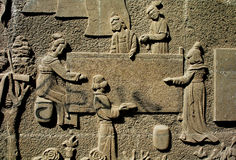 Stone carving. Traditional stone carving  in Sichian,west of China Stock Photography
