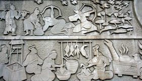 Stone carving Royalty Free Stock Images