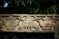 Stone carving. Traditional stone carving in Chongqing,west of China Royalty Free Stock Images