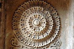 Stone carving at Adalaj Step well Stock Images