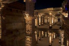 Stone carving at  Adalaj step well . Ahmedabad, Gujarat Royalty Free Stock Images