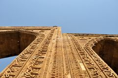 Stone carving in ancient Mosque, Ajmer, Rajasthan Royalty Free Stock Images