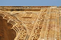 Stone carving in ancient Mosque, Ajmer, Rajasthan Royalty Free Stock Photography