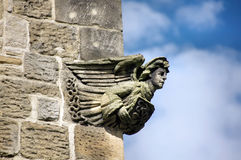 Stone Carving of an Angel Stock Images