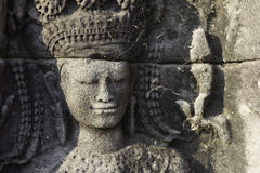 Stone Carving, Angkor Wat, Cambodia Royalty Free Stock Images