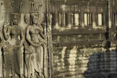 Stone Carving, Angkor Wat, Cambodia Stock Photos
