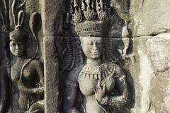 Stone Carving, Angkor Wat, Cambodia Stock Images