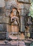 Stone carving Angkor Wat Stock Image